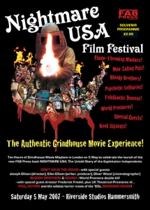 Nightmare USA Film Festival Programme