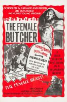 THE FEMALE BUTCHER One Sheet Poster