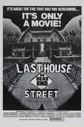 LAST HOUSE ON DEAD END STREET One Sheet Poster