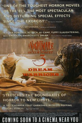 A NIGHTMARE ON ELM STREET 3 Large Format Poster